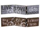 Three Panel Accordion Bicycle Signs 2 designs