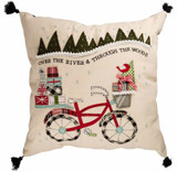 Over the River Christmas Applique Bike Pillow