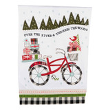 Over the River Applique Christmas Bike Towel