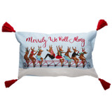 Merrily We Roll Along Bicycle Pillow