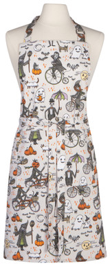 Halloween Bicycle Chef Apron