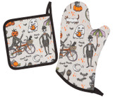 Halloween Spooky Bicycle Oven Mitt Set