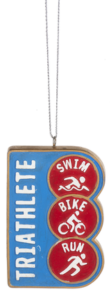 Triathlete Wood Ornament