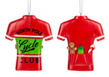 North Pole Cycling Jersey Ornament