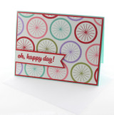 Oh Happy Day Bike Wheel Greeting Card