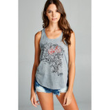 Grey and Red Cascade Bicycle Tank