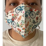 Floral Bicycle Cotton Mask