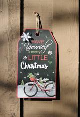 Merry Christmas Bicycle Wall Hang Tag