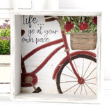 Go at Your Own Pace Shadowbox Bicycle Sign