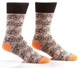 Brown BIKE Mens Sock