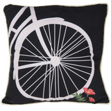 Bicycle Wheel Decorative Pillow