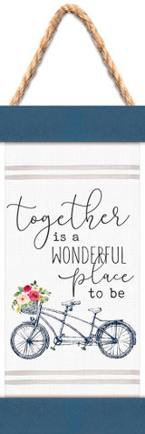 Together Is a Wonderful Place Mini Bike Banner Art