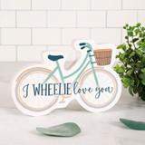 I Wheelie Love You Bike Shape