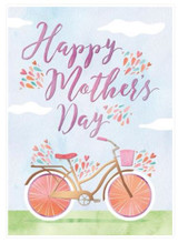 Happy Mothers Day Bicycle Card