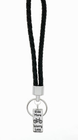Ride More Worry Less Bicycle Keychain