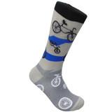 Bikes in Motion Grey Sock