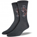 Charcoal and Red Retro Sock