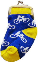 Bicycle Sock Change Purse