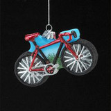 Hand Blown Glass Bike Ornament