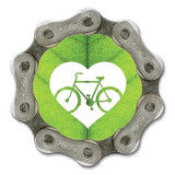 Bike Love Leaf Magnet