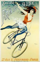 Societe La Francaise  Vintage French Bicycle Poster by PAL