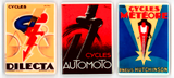 Art Deco Bicycle Poster Refrigerator Magnets