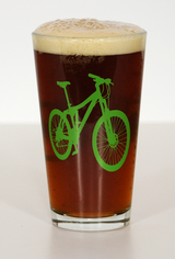 Mountain Bike Pint Beer Glasses