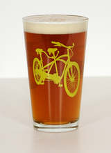 Tandem Bike Pint Beer Glasses