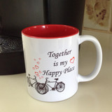 Together is My Happy Place Bicycle Mug