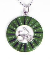 Bicycle Wheel Pendent - Green