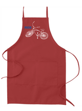 RIDE bicycle apron by BicycleGifts - Red