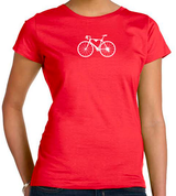 Bicycle Love Women's Tee by Valenti Cycling Art
