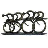 Racing Cyclist Sculpture in brown/bronze finish.