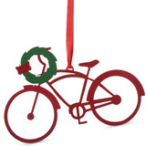 Laser cut Red Bike Ornament