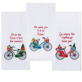 Home for the Holiday Kitchen Towels  What fun to Ride- SOLD OUT