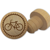 Bicycle Wooden Wine Stopper