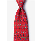 Triathlon Red Silk Tie