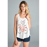 Want to Ride my Bicycle Cream Tank