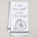 Not Old Vintage Bike Dishtowel