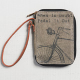 Pedal It Out Canvas Bicycle Wallet