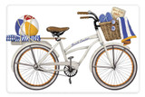 Flour Sack Kitchen Towel Beach bike