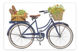 Flour Sack Kitchen Towel Market Bike