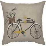 Natural Linen Bicycle Pillow COVER