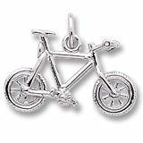 Mountain bike sterling silver charm