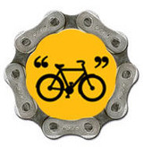 Yellow Bike Quote Magnet