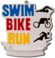 Triathlon ornament