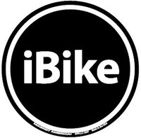 IBike Circle Magnet and Decal