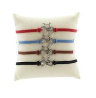Leather Wheel Love  Bracelet in 4 colors