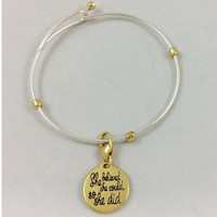 Girl on Tricycle Heartfelt Bracelet