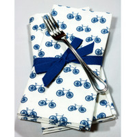 Blue Bikes Napkin Set